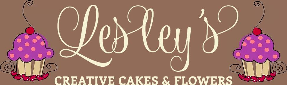 Lesley's Creative Cakes & Flowers Logo